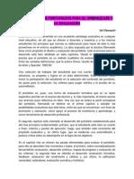 Desarrollo de Portafolios Para El Aprendizaje y La Evaluación