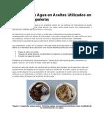 Detección de Agua en Aceites Utilizados en Máquinas Papeleras