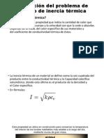 Resolución Del Problema de Calculo de Inercia Térmica