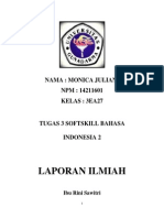 Tugas 3 Softskill Bahasa Indonesia 2 - LAPORAN ILMIAH