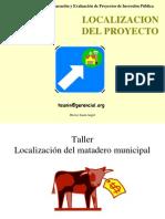 Localizacion de Un Proyecto