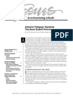 authentic pedagogy newmann issues no 8 spring 1995