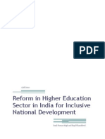 White Paper on Education Reform for the Union HRD Ministry of Indian Government for Inclusive Development