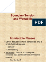 Boundary Tension and Wettability