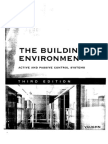 Control Systems the Building Environment Active and Passive