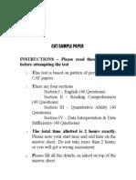 CAT Sample Paper