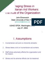 4343 Managing Stress in Humanitarian Aid Workers
