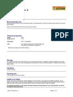 Jotun Thinner No. 2 - English (Uk) - Issued.06.12.2007