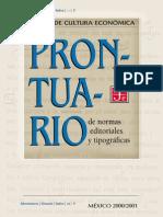 Prontuario de Normas Editoriales y Tipográficas Del FCE