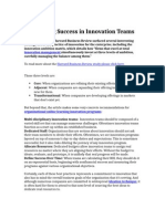 Forecasting Success in Innovation Teams