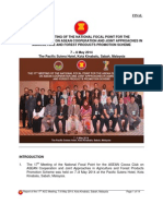 Report of the 17th Meeting on the National Focal Point for the Asean Cocoa Club