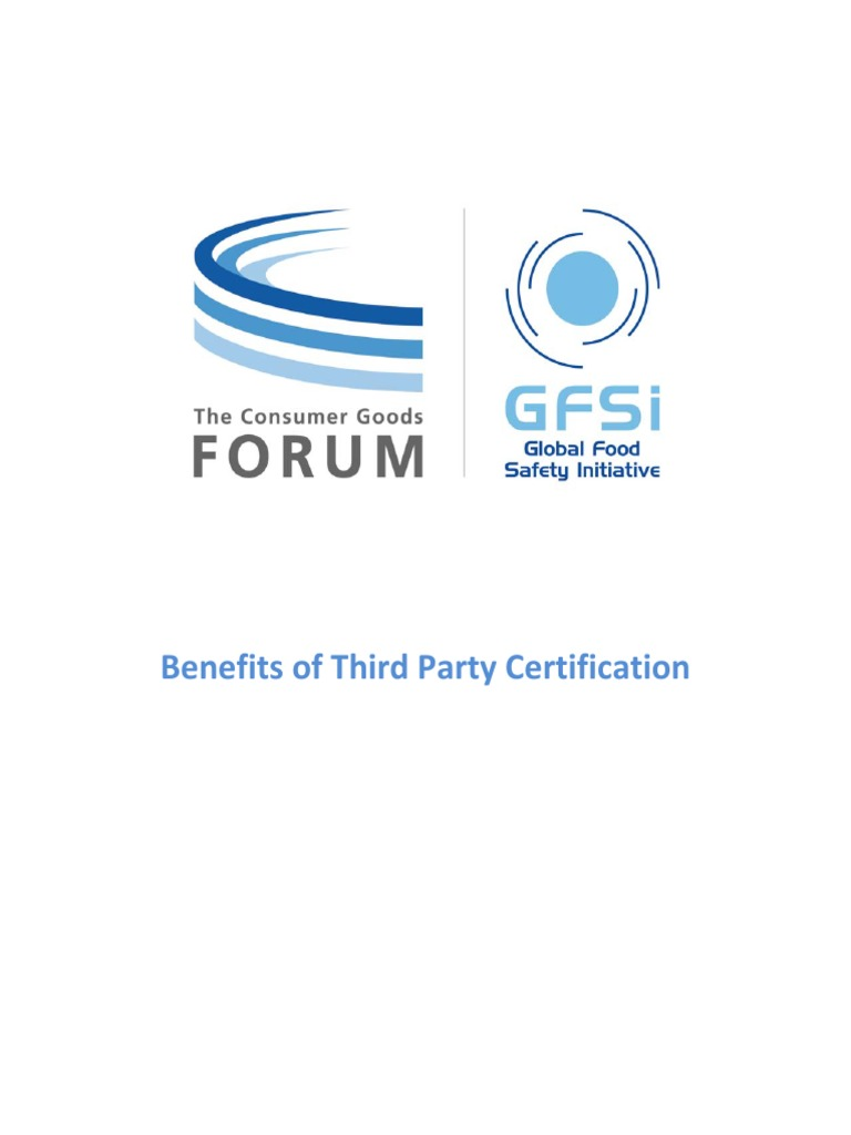Benefits of Third Party Certification | Food Safety | Audit