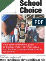 School Choice 2010-11