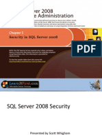 Security in SQL Server 2008