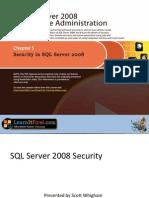 Security in SQL Server 2008