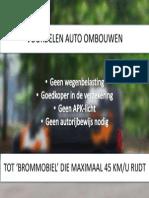 Voordelen auto ombouwen tot 'brommobiel'