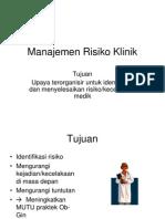 manajemen risiko tinggi