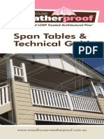Weatherproof Span Tables and Technical Guide