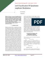 Log-Likelihood Classification Of Quadrature Amplitude Modulation