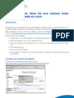 Cómo bajar el peso de una imagen para adaptar a la web en GIMP