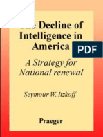 The Decline of Intelligence in America - A Strategy for National Renewal (1994) by Seymour William Itzkoff