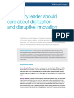 Why Every Leader Should Care About Digitization and Disruptive Innovation