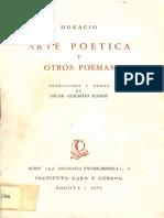 Arte Poetica y Otros Poemas Horacio Quintus Horatius Flaccus