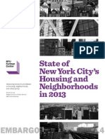 NYU Furman Center's State of NYC in 2013 Report
