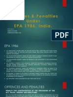 EPA 1986, Offences & Penalties