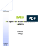 MYRRHA Multi-purpose HYbrid Research Reactor for High-tech Applications