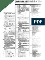 RRB Loco Pilot Previous Paper