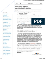 Project Management - Determining Path Probabilities
