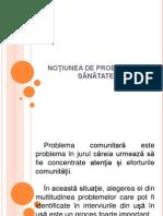 Noţiunea de Problemă În Sãnãtate