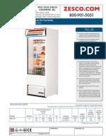 True TAC-30 Vertical Air Curtain Refrigerator