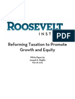 Reforming Taxation to Promote Growth and Equity