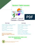 June 2014 Swim Lessons