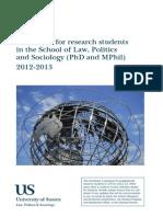 LPS Research Student Handbook 2012