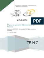 TP7 - MPLS VPN+++++