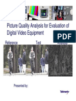 1. Picture Quality Analysis for Evaluation of Digital Video