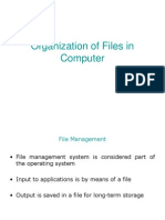 Organization of Files in Computer
