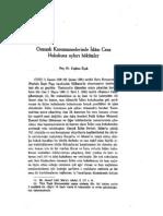 Osmanlı Kanunnamelerinde İslâm Ceza Hukukuna Aykırı Hükümler - Doç. Dr. Coşkun Üçok