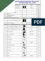 iPhone Parts Price List