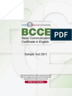 BCCE Sample Test January 2011