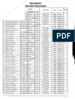 Registry of Qualified Applicants Sy 2014-2015 Secondary