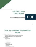 Epid 600 Class 5 Cohort Studies