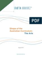 shape of the australian curriculum-the arts