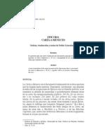 Epicuro - Carta a Meneceo (Trad. Pablo Oyarzún)
