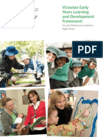 victorian early years learning and development framework