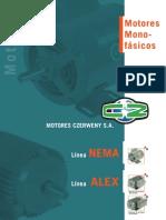 Motores monofasicos Czerweny