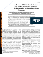 2012 - Possible Association Between OPRM1 Genetic Variance at the 118 Locus and Alcohol Dependence in a Large Treatment Sample Relations